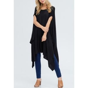 Black Over-sized Poncho Tunic NWOT